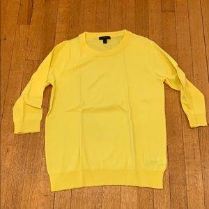 Jcrew bright yellow merino wool sweater